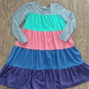 Hanna Andersson twirl dress girls 160 rainbow